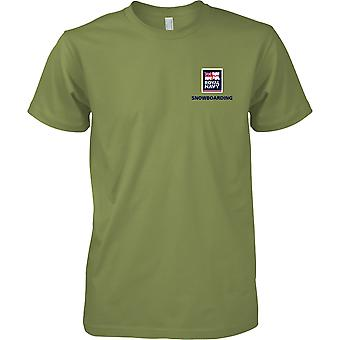 RN Snowboarding Logo 2 - Royal Navy Sports T-Shirt Colour