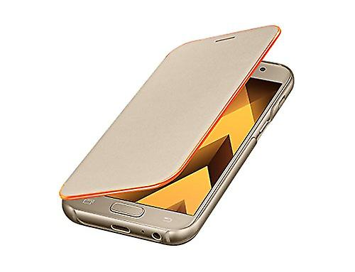 Samsung EF-FA320PFEG neon flip cover case black for Galaxy A3 2017