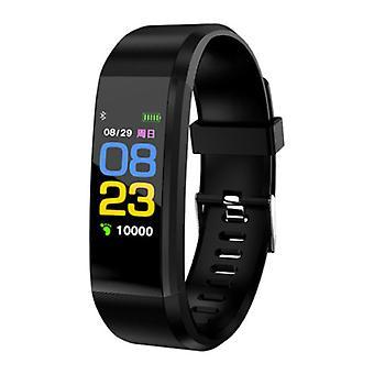 Stuff Certified® Original ID115 Plus Smartband Sport Smartwatch Smartphone Watch iOS Android Black
