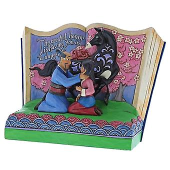 Disney Traditions Mulan Storybook ' The Greatest honera is Having You as a Daughter ' Figurine