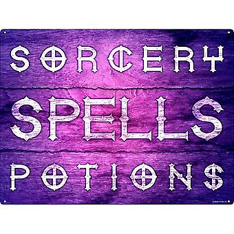 Grindstore Sorcery, Spells & Potions Tin Sign