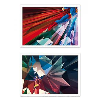 2 Plakaty artystyczne - Batman Superman - Liam Brazier