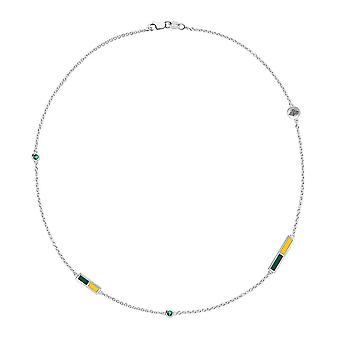 University of Alaska Anchorage Emerald Chain Necklace In Sterling Silver Design by BIXLER