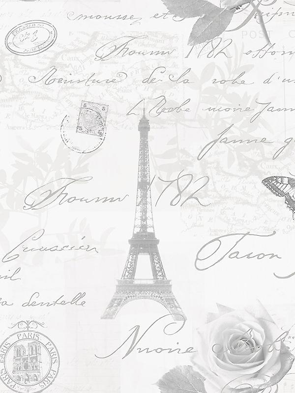 Calligraphy Paris Postcard Wallpaper Holden