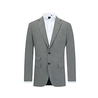 Dobell Mens Light Grey Suit Jacket Tailored Fit