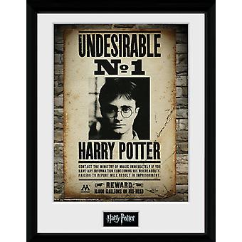 Harry Potter uønskede ingen 1 indrammet Collector Print 40x30cm