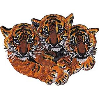 Patch - Animals - 3 Tigers Iron On Gifts New Licensed p-3937