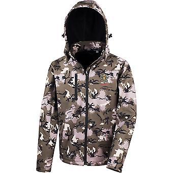 Musta Watch Veteran-lisensoitu Britannian armeijan kirjailtu suoritus kyky hupullinen Camo softshell takki
