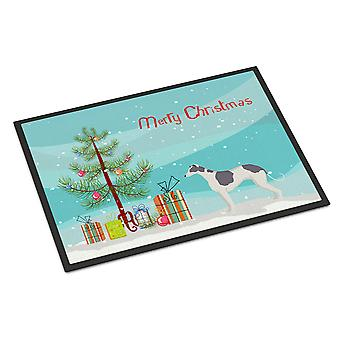 Greyhound Christmas Tree Indoor or Outdoor Mat 24x36