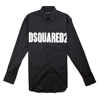 Dsquared2 logo skjorte svart