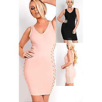 IKRUSH Womens Liviana Schnürschuh figurbetonten Kleid