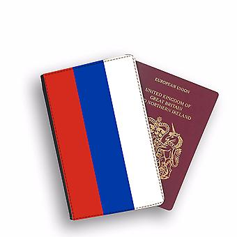 RUSSIA Flag Passport Holder Style Case Cover Protective Wallet Flags design