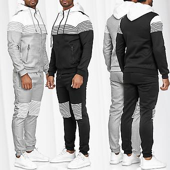 Men's Tracksuit Jogging Suit Streetwear Sweater sports fitness Stripes set pants