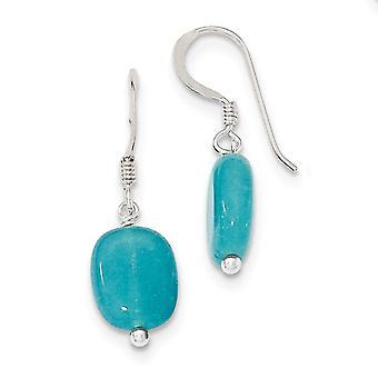 925 Sterling Silver Shepherd hook Aquamarine Earrings Jewelry Gifts for Women