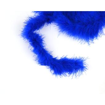 2m Blue Marabou Feather Trim for Crafts