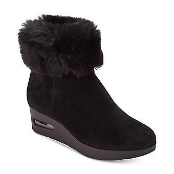 DKNY Womens Aron namaakbont ronde teen enkel regen laarzen