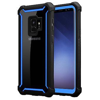 Cadorabo tapauksessa Samsung Galaxy S9 tapauksessa kattaa - 2-in-1 puhelin tapauksessa TPU silikoni reuna ja akryyli lasi takaisin - suojakotelo hybridi kovakotelo takaisin tapauksessa