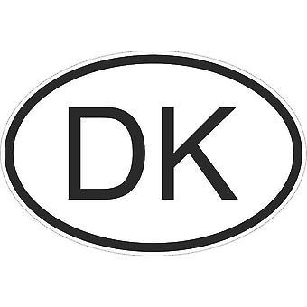 Pegatina pegatina etiqueta etiqueta bandera código ovalada país motocicleta Dinamarca danés Dk