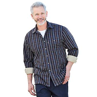 Champion Mens Checked Shirt Fleece Lined Long Sleeve