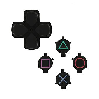 Replacement genuine oem d-pad & action button set for sony ps4 controllers - black