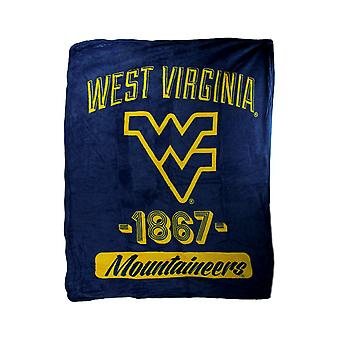 NCAA West Virginia Mountaineers Retro 1867 Micro Raschel Plush Throw Blanket