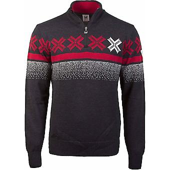 Dale of Norway Åre Sweater - Dark Charcoal/Raspberry