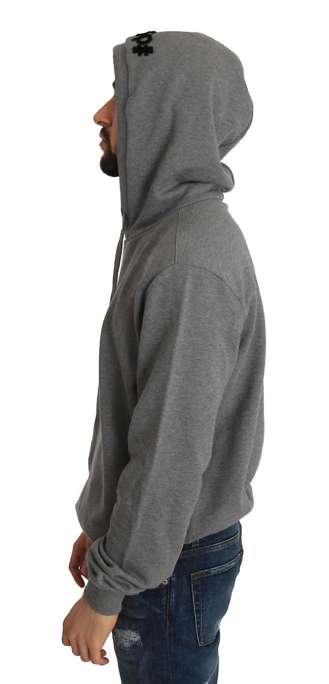 Gray Cotton Hooded Royal Sweater