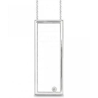 QUINN - Necklace - Ladies - Silver 925 - Diamond - Wess. (H) - piqué - 271119