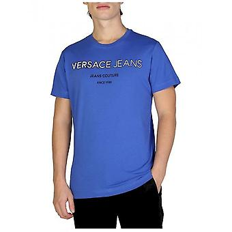 Versace Jeans - Clothing - T-Shirts - B3GSB71C_36609_253 - Men - Blue - XXL