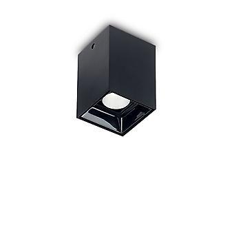Ideale Lux Nitro LED 1 Licht quadratisch Oberfläche montiert Downlight Schwarz IDL206042