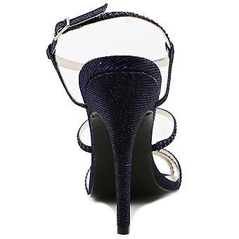 Caparros Groovy Women Open Toe Synthetic Blue Sandals