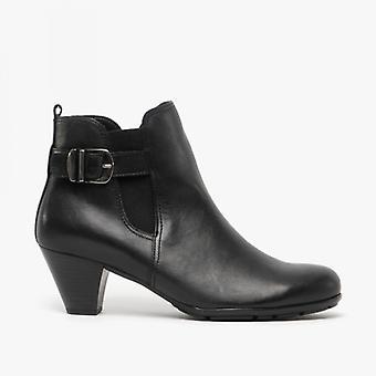 Gabor tamarind Ladies Leather Ankel Boots svart
