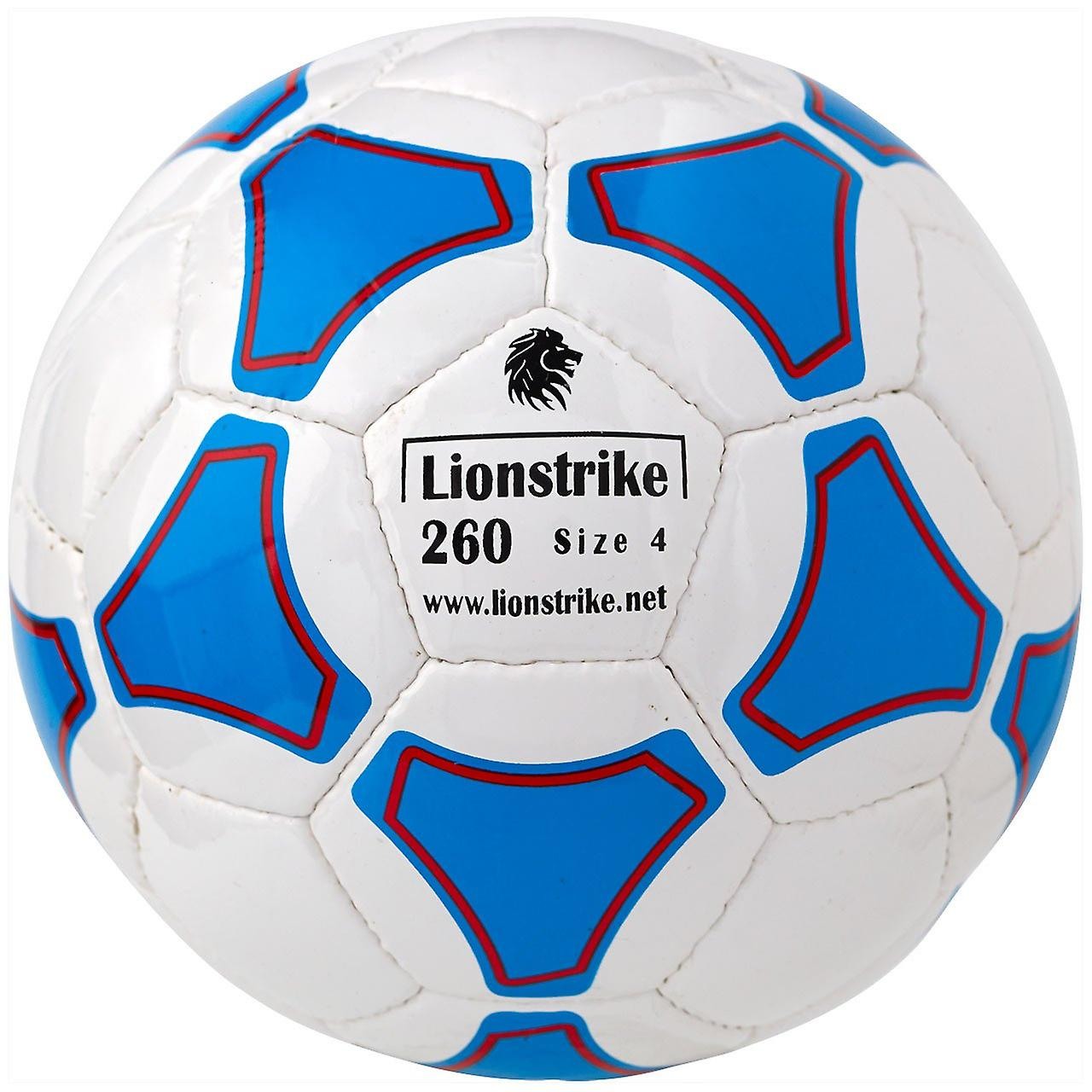 Lionstrike 260 leather football (size 4) - white