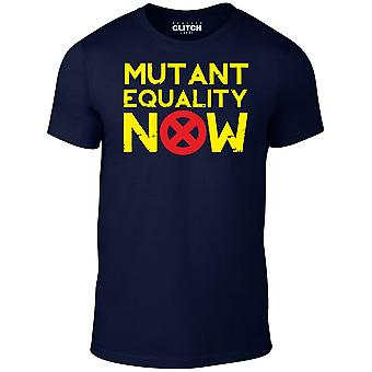 Men's mutant equality now t-shirt.