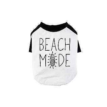 365 Printing Beach Mode Pet Baseball Shirt for Small Dogs Funny Dog Raglan Tee
