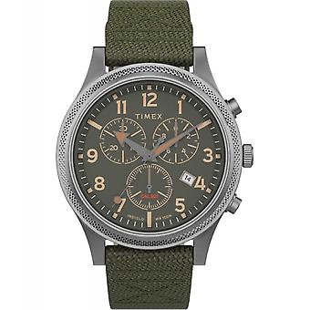 Timex TW2T75800 Allied LT chronograph stoff REM armbåndsur