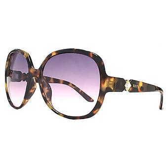 Lipsy London 70s Oversized Sunglasses - Brown/Black