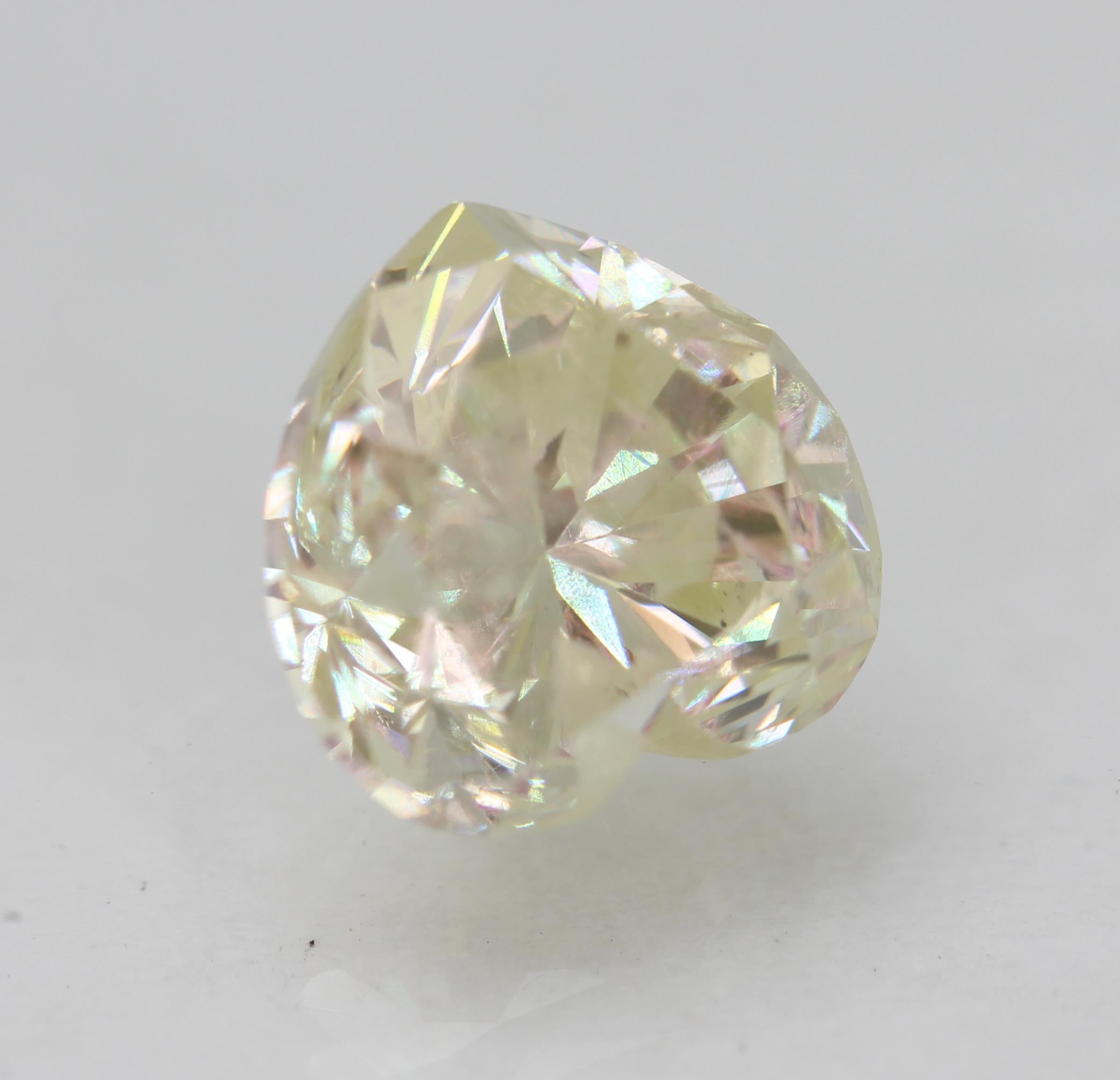 Certified 2.91 Carat J Color SI1 Heart Enhanced Natural Loose Diamond 8.62x8.39m