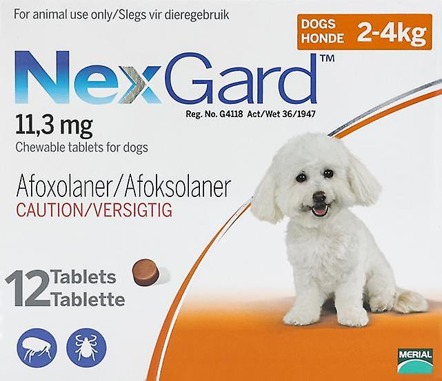 Nexgard for Dogs 2-4kg (4-10 lbs) 12 Chewables