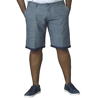 Duke D555 Mens Cliff Big Tall Casual Cotton Summer Holiday Pants Shorts - Navy