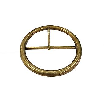 Large Round Brass Buckle with Pin