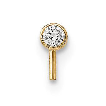 14k 2,5 mm CZ Zirkonia simuliert Diamant Nase Ohrstecker Schmuck Geschenke für Frauen