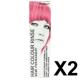 Semi-Permanent Hair Dye von Stargazer - Baby-Rosa x 2 Packs