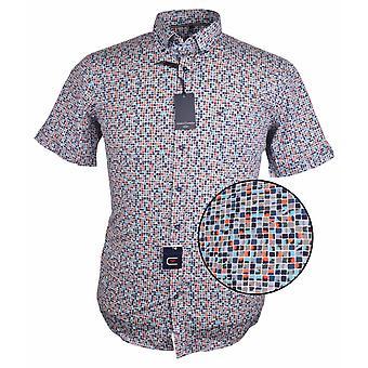 CASA MODA Casa Moda Block Print Short Sleeve Shirt