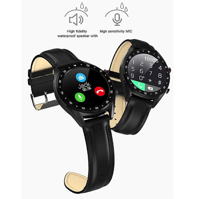 Lemfo Sports Smartwatch Fitness Sport Activity Tracker Smartphone Watch iOS Android iPhone Samsung Huawei Black Leather