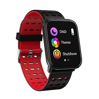 Montre intelligente T6 avec écran tactile-rouge
