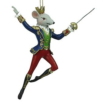 Gisela Graham Nutcracker King Rat Decoration