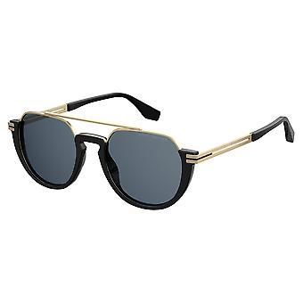 Marc Jacobs Marc 414/S 2M2/KU Black-Gold/Blue Sunglasses