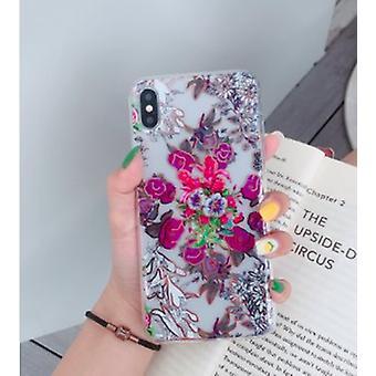 Carcasă mobilă pentru iPhoneX/XS în model frumos cu flori