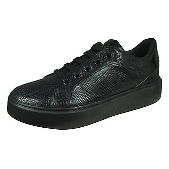 Geox D Nhenbus A Womens Leather Trainers - Black